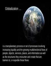 Sceptical thesis globalization