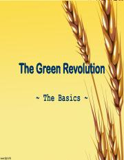Lecture 03 The Green Revolution