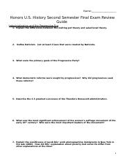 Kosiba Copy of Honors US History Second Semester Final Exam Review Guide.docx