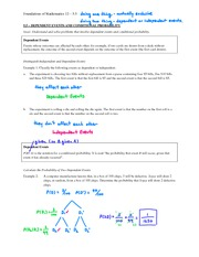 5.5 - Dependent Events and Conditional Probability