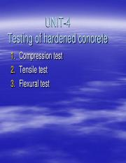 11 - Tests on hardened concrete