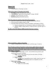 Exam #3 Study Guide Part 1 Final.doc