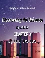DTU 8e Lecture PPT Chap 3 Light and Telescopes v2.ppt