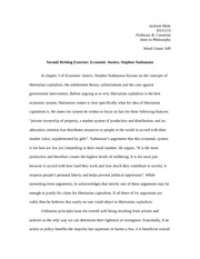 Second Writing Exercise: Economic Justice, Stephen Nathanson
