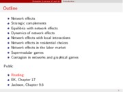 Network Effects notes