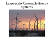 Large-scale Renewable Energy Systems