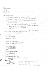 Notes 1 Chapter 2: Newton's 3 laws
