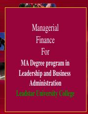 Managerial Finance_Leadstar