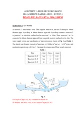 Assignment 2 Fluid Mechanics Section 4