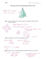 Drawing a Net and Calculating Surface Area