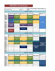 Maynooth Summer School Schedule 2016