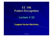 EE546_L10 - Support Vector Machines