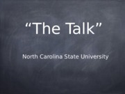The Talk Project Presentation