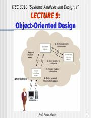 Lecture 3 Object Oriented Design Principles Satzinger Chapter 11 Ppt 11 Object Oriented Design Approach Sad 202 11 Overview This Is Thorough Course Hero