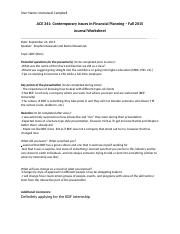 ACE 341 Journal Assignment Worksheet-2
