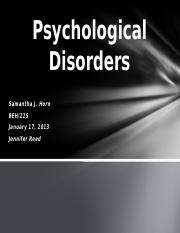 CheckPoint - Psychological Disorders Presentation
