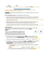 Student Exploration -Ionic Bonds.pdf - seraya steward Name ...