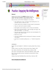 Multiple Intelligences -- Musical