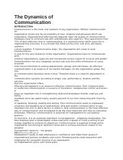 The Dynamics of Communication.docx
