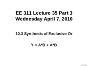 Lecture 35 Part 3 SynthesisExOR_1