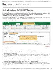 1 - Finding Data Using the VLOOKUP Function