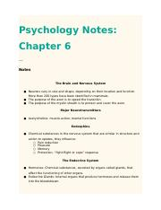 PsychologyNotesChapter6 (1)