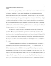 CRS 338 - Power:Political Reflective Essay