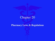 Pharmacy Laws & Regulations 2007