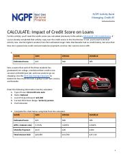 Copy of CALCULATE: Impact of Credit Score on Loans (#5)