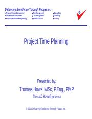 4_Project Time Planning Revised 2015-09-09