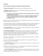 13) Fallacy Notes Part 2--Presumption, Ambiguity, Grammatical Analogy