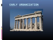 URS1006 Lecture 3 Early Urbanization