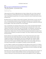 kite runner book report essay Is this tale of friendship, betrayal, and redemption worth reading 'the kite  runner' topped the bestsellers lists for several reasons.