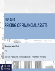 Ch10 Pricing of Financial Assets