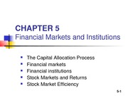 Chapter 05_Financial Markets