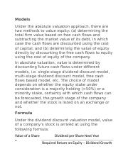 Equity Valuation models.docx