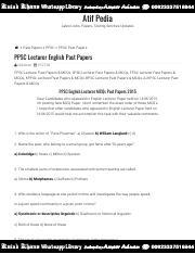 PPSC Lecturer English Past Papers _ Atif Pedia pdf -  AtifPedia Atif