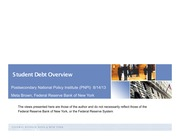 Student Debt Overview - Meta Brown