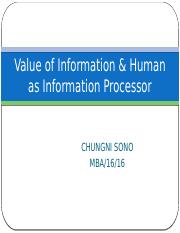 Value of Information & Human as  Information Processor.pptx