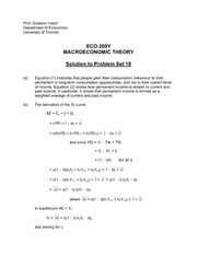 ECO 209Y Fall 2013 Problem Set 18 Solutions