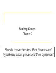 Studying Groups