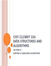 CISY 212 Lecture8 Sorting and Searching Algorithms.pptx
