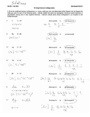 Electron Configurations Worksheet - 5. Hf Z = 72 diamagnetic or ...
