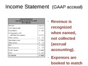 Income Statement  (GAAP accrual)