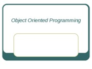 #2 Object Oriented Programming