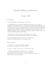 ECON 231 Midterm 2 Answer Key