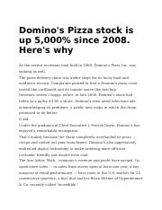 Domino's Pizza stock is up 5,000% since 2008. Here's why.docx