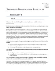 psych behavior modification principles um page  6 pages behaviour modification principles assignment 4