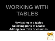 Edsa Mae [Working with Tables]
