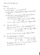 Bases and Dimensions Problems Solutions